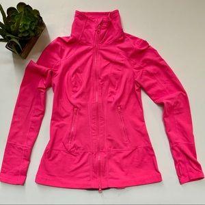 ZELLA Pink Full Zip Jacket with Pleated Peplum XS